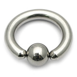 Titanium BCR 2.5mm Large Gauge (Ball Closure Ring) 2.5mm, 20mm (6mm ball)