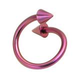 Titanium Coned Spirals 1.6mm 12mm, Purple, 4mm