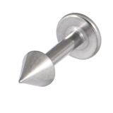 Titanium Coned Labrets 1.6mm 1.6mm, 6mm, Mirror Polish
