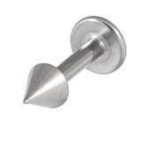 Titanium Coned Labrets 1.6mm 1.6mm, 12mm, Mirror Polish