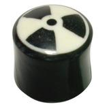 Organic Horn Plug with Radioactive design 12 / Radioactive