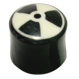 Organic Horn Plug with Radioactive design 18 / Radioactive