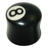 Organic Horn Plug with 8 Ball design 16 / 8 Ball