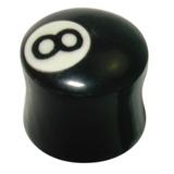 Organic Horn Plug with 8 Ball design 18 / 8 Ball
