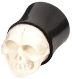 Organic Horn Plug with Skull (HP3) 18