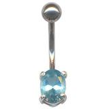 Belly Bar - Oval Claw Set (XA76) Light Blue