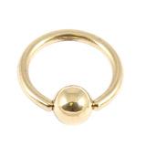 Zircon Titanium BCRs (Gold colour PVD) 1.2mm, 10mm, 4mm