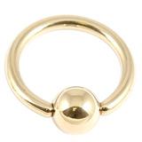 Zircon Titanium BCRs (Gold colour PVD) 1.6mm, 12mm, 5mm