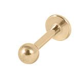 Zircon Titanium Labrets (Gold colour PVD) 1.2mm, 6mm, 3mm