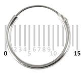 Sterling Silver Hoops - Earrings H1-H20 H6:- Piercing Gauge 0.5mm. Perceived Gauge 1.2mm. Internal Diameter 11.5mm. (1 PAIR)