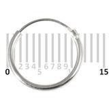 Sterling Silver Hoops - Earrings H1-H20 H7:- Piercing Gauge 0.5mm. Perceived Gauge 1.2mm. Internal Diameter 10mm. (1 PAIR).