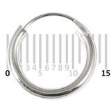 Sterling Silver Hoops - Earrings H1-H20 H14:- Piercing Gauge 0.7mm. Perceived Gauge 2.0mm. Internal Diameter 10mm. (1 PAIR)