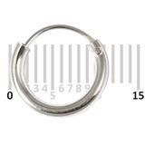Sterling Silver Hoops - Earrings H1-H20 H15:- Piercing Gauge 0.6mm. Perceived Gauge 2.0mm. Internal Diameter 8.5mm. (1 PAIR)