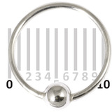 Sterling Silver Hoops - Earrings H21-H24A H21:- Gauge 0.8mm. Internal Diameter 10mm. (1 PAIR)