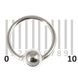 Sterling Silver Hoops - Earrings H21-H24A H23:- Gauge 0.8mm. Internal Diameter 6mm. (1 PAIR)