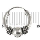 Sterling Silver Hoops - Earrings  H25-H30 H25:- Piercing Gauge 0.7mm. Perceived Gauge 2.0mm. Internal Diameter 9mm. (1 PAIR)