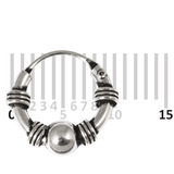 Sterling Silver Hoops - Earrings  H25-H30 H30:- Piercing Gauge 0.6mm. Perceived Gauge 1.6mm. Internal Diameter 6.5mm. (1 PAIR)