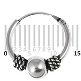 Sterling Silver Hoops - Earrings  H33-H43 H33:- Piercing Gauge 0.6mm. Perceived Gauge 1.6mm. Internal Diameter 11mm. (1 PAIR)