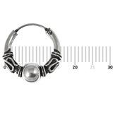 Sterling Silver Hoops - Earrings  H33-H43 H42:- Piercing Gauge 0.7mm. Perceived Gauge 2.0mm. Internal Diameter 12.5mm. (1 PAIR)
