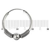 Sterling Silver Hoops - Earrings  H33-H43 H43:- Piercing Gauge 0.7mm. Perceived Gauge 2.0mm. Internal Diameter 17mm. (1 PAIR)