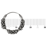 Sterling Silver Hoops - Earrings  H58-H72 H60:- Piercing Gauge 0.6mm. Perceived Gauge 2.0mm. Internal Diameter 11mm. (1 PAIR)