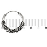 Sterling Silver Hoops - Earrings  H58-H72 H62:- Piercing Gauge 0.6mm. Perceived Gauge 2.0mm. Internal Diameter 12.5mm. (1 PAIR)