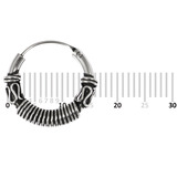 Sterling Silver Hoops - Earrings  H58-H72 H72:- Piercing Gauge 0.6mm. Perceived Gauge 2.0mm. Internal Diameter 11mm. (1 PAIR)