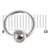 Sterling Silver Hoops - Earrings   H102-H103 H103:- Gauge 1.2mm. Internal Diameter 9mm. (1 PAIR)