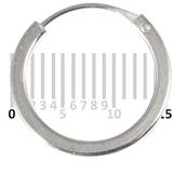 Sterling Silver Hoops - Earrings   H104-H106B H104:- Piercing Gauge 0.7mm. Perceived Gauge 2.0mm. Internal Diameter 12.5mm. Square in cross-section. (1 PAIR)