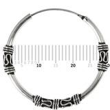 Sterling Silver Hoops - Earrings   H137-H139 H137:- Piercing Gauge 0.7mm. Perceived Gauge 2.0mm. Internal Diameter 26mm. (1 PAIR)