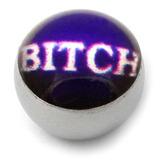 Steel Logo Balls - Words B*tch