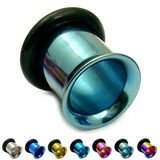 Titanium Flared Eyelets 8mm, Ice Blue