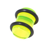 Acrylic Plug 1.6-10mm 5 / uv green