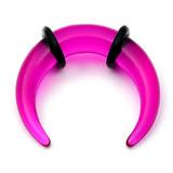 Acrylic Plain Crescent Stretchers 4 / uv purple