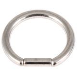 Titanium Bar Closure Ring 1.2mm, 8mm, Mirror Polish