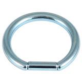 Titanium Bar Closure Ring 1.2mm, 8mm, Ice Blue