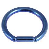 Titanium Bar Closure Ring 1.6mm, 10mm, Blue