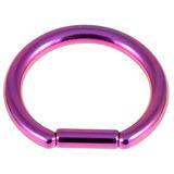 Titanium Bar Closure Ring 1.6mm, 12mm, Purple