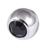 Steel Threaded Jewelled Balls 1.6x6mm jet