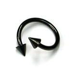 Black Titanium Coned Spirals 1.6mm, 12mm, 4mm base and 4mm height