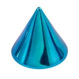 Titanium Cones 1.6mm, 4mm, Turquoise