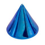 Titanium Cones 1.6mm, 4mm, Blue