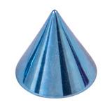 Titanium Cones 1.6mm, 4mm, Ice Blue