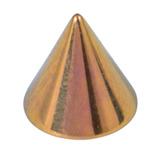 Titanium Cones 1.6mm, 4mm, Gold