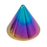Titanium Cones 1.6mm, 4mm, Rainbow