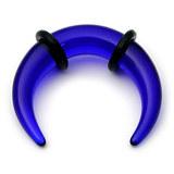 Acrylic Plain Crescent Stretchers 3 / uv blue