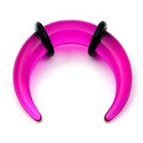 Acrylic Plain Crescent Stretchers 8 / uv purple