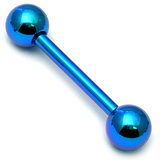 Titanium Micro Barbells 1.2mm 12mm, 3mm, Turquoise