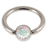 1.2 jewelled ball closure rings (bcrs) crystal ab / 10