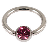 1.2 jewelled ball closure rings (bcrs) pink / 12
